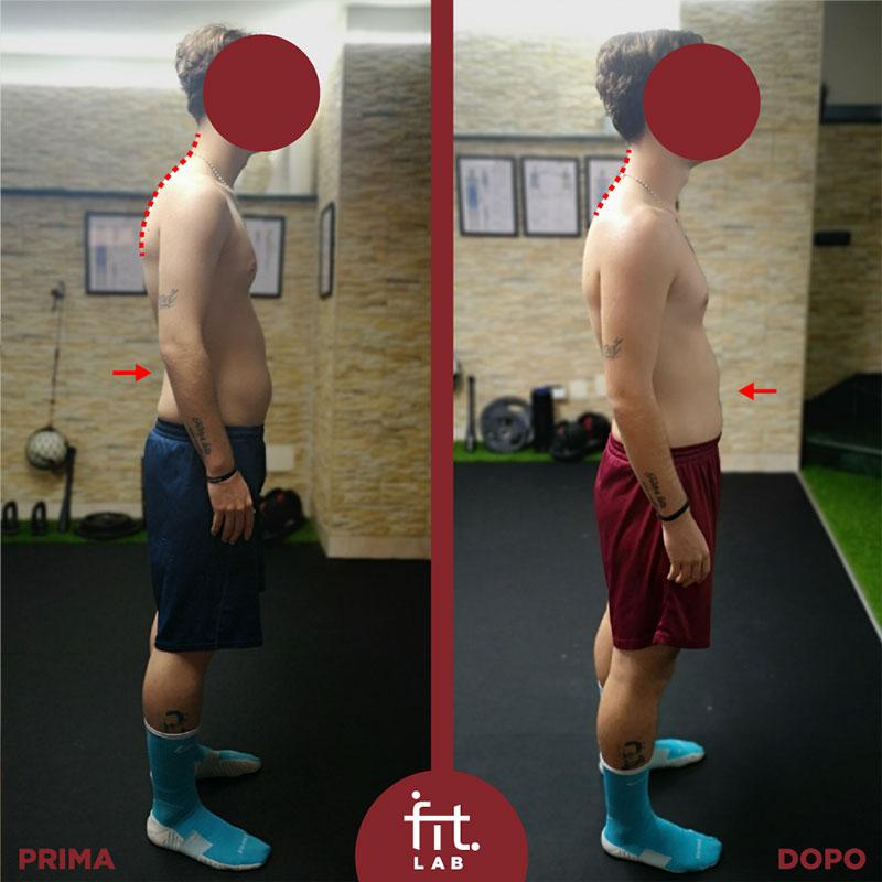 postura capo muscoli addominali